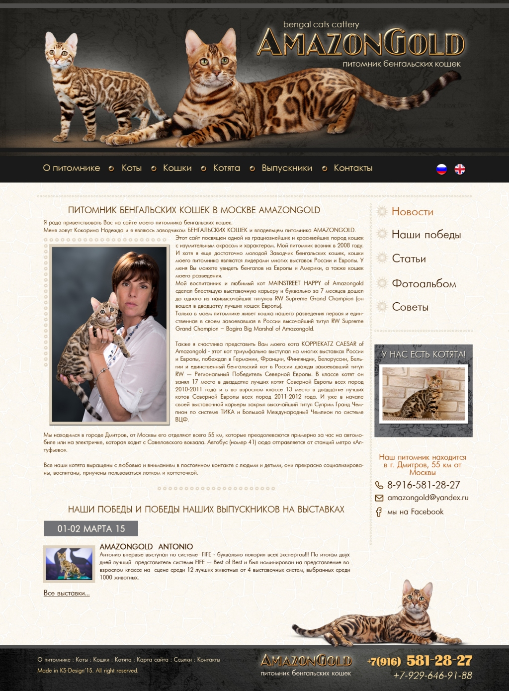 красивый дизайн сайта для животных