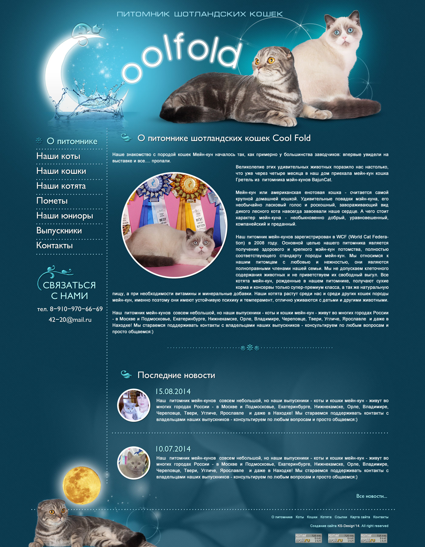шаблон сайта для кошек