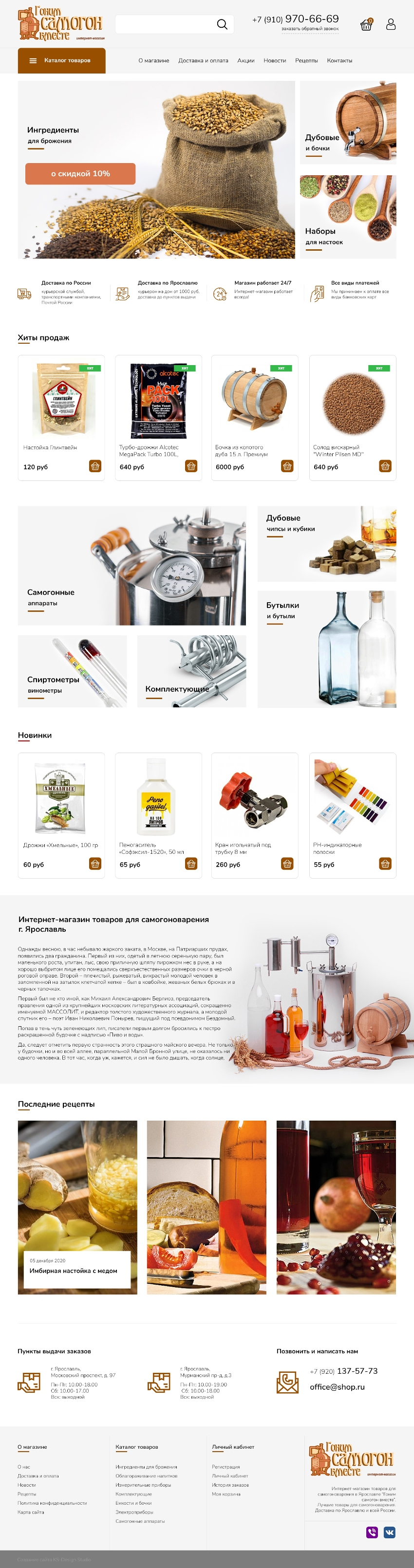 website, online store template